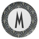 1920s Fans Pattern - Personalised Plate