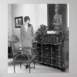 1920s Fashion Cloche Hat Poster