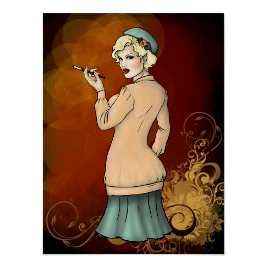 1920s Fashion - Georgette the FLapper Girl Poster
