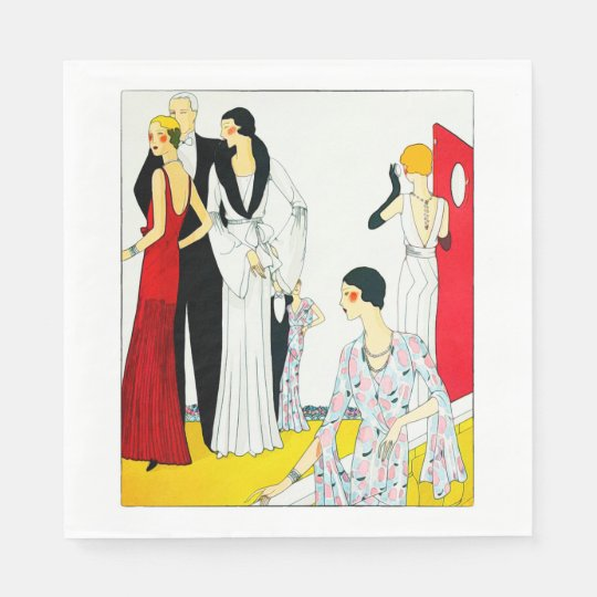 1920's Fashion - Luncheon Paper Napkins