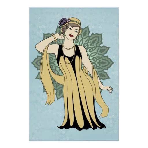 1920s Fashion Pinup - Daisy Posters
