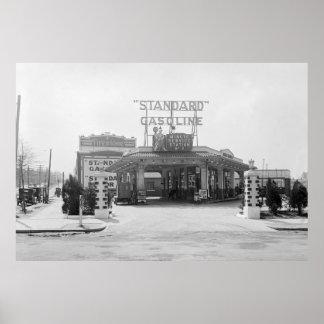 1920s Filling Station Poster