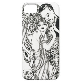 1920s Flapper Beauty iPhone Case