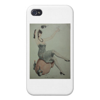 1920s Flapper Champagne Girl Cases For iPhone 4