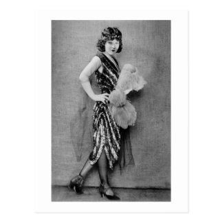 1920s Flapper Fashion Postcard