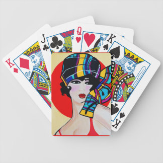 1920'S FLAPPER  GIRL BICYCLE PLAYING CARDS