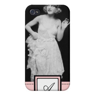 1920s Flapper Girl Fashion iPhone Case & Monogram Cases For iPhone 4
