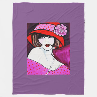 1920'S FLAPPER  GIRL FLEECE BLANKET