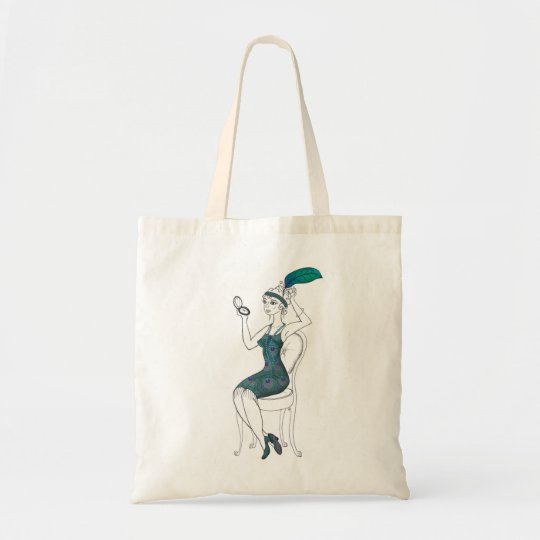 1920's Flapper Girl Tote Bag