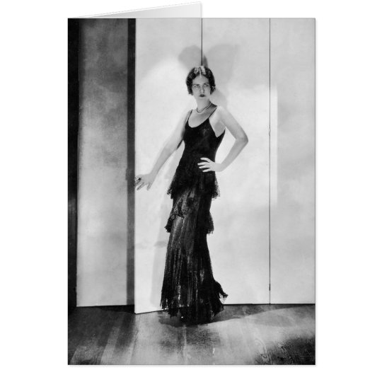 1920s Flapper Glamour Girl Photo Birthday Card