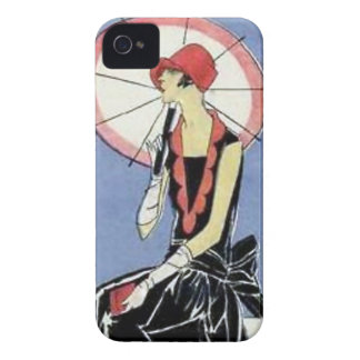 1920s Flapper with Umbrella iPhone 4 Covers