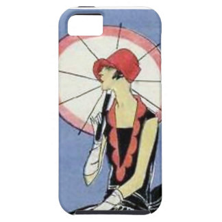 1920s Flapper with Umbrella iPhone 5 Covers