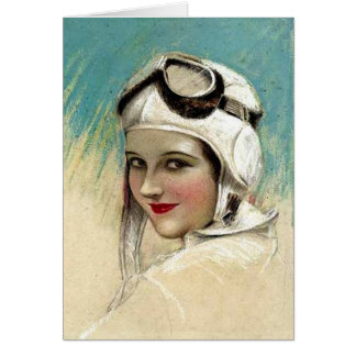 1920's Flygirl by C.G. Sheldon Card