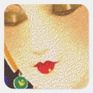 1920s gal square sticker
