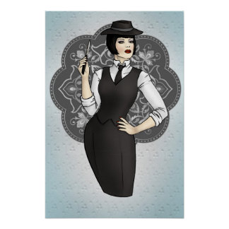 1920s Gangster Girl Poster
