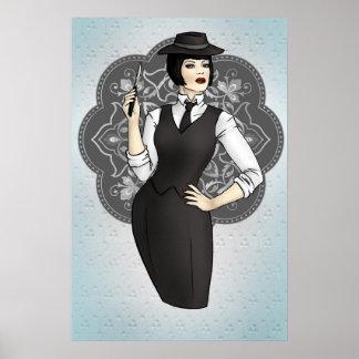 1920s Gangster Girl Poster