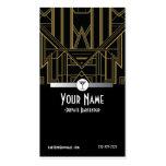 1920s Gatsby Bartender Business Card
