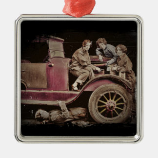 1920's Girl Auto Mechanics Christmas Ornament