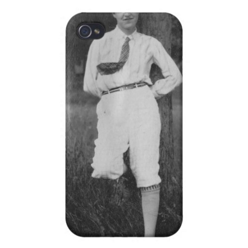 1920's Girl by Tree iPhone 4 Cases