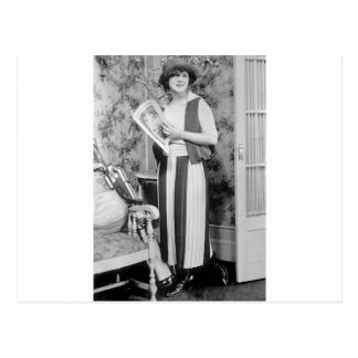 1920s Golf Fashion Postcard