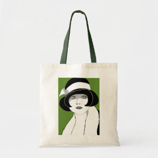 1920s Green Tote Bag