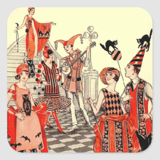 1920's Halloween Costume Party Sticker