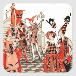 1920's Halloween Costume Party Square Sticker