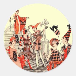 1920's Halloween Costume Party Classic Round Sticker