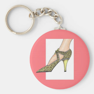1920s High Heeled Shoe Key Ring