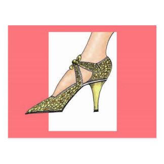 1920s High Heeled Shoe Postcard