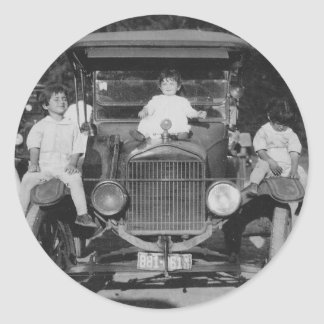 1920's Kids on Car Stickers