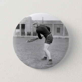 1920s Lacrosse Player 6 Cm Round Badge
