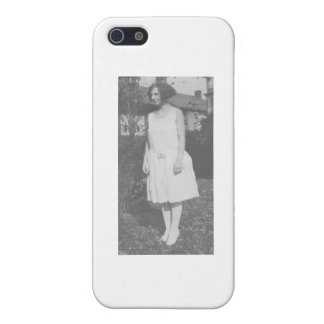 1920's Lady in White Dress Case For iPhone 5