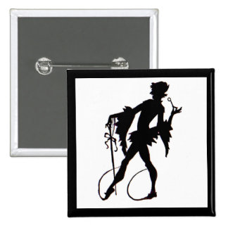 1920s magician silhouette 15 cm square badge
