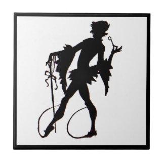 1920s magician silhouette tile