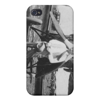 1920's Man with Airplane Cases For iPhone 4