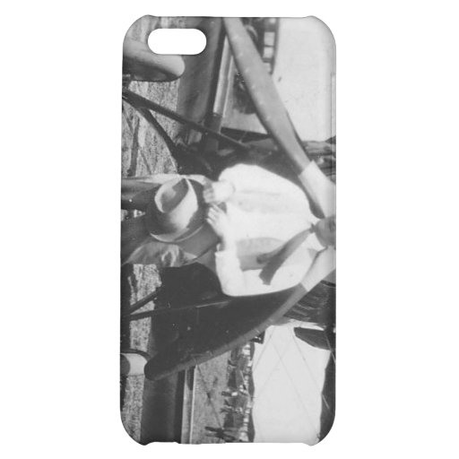 1920's Man with Airplane Case For iPhone 5C