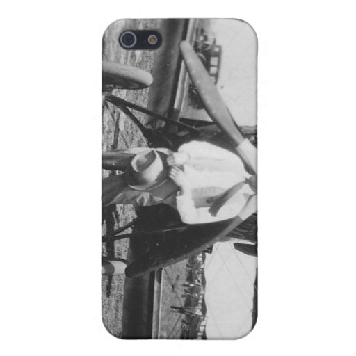 1920's Man with Airplane iPhone 5 Covers