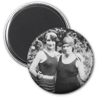 1920's Mother and Daughter in bathingsuits Magnet
