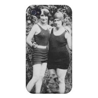 1920's Mother and Daughter in Swimsuits Covers For iPhone 4
