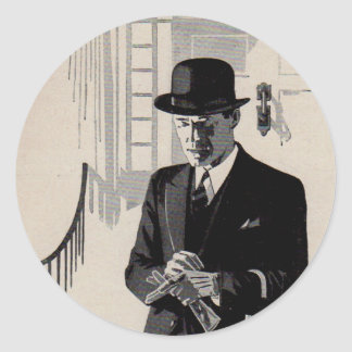 1920s Mr. Natty the sharp dressed man Round Sticker