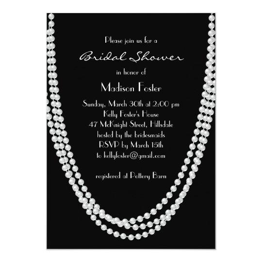 1920's Pearl Bridal Shower Invitation