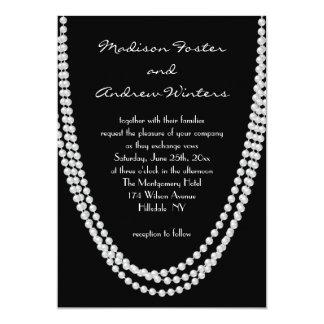 1920's Pearl Wedding Invitation