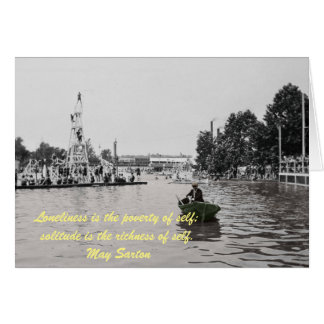 1920's Photo Card Man Alone Lonely Quote Inspire
