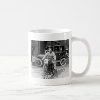 1920s Racing Motorcycle Basic White Mug
