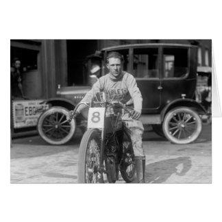 1920s Racing Motorcycle Greeting Card