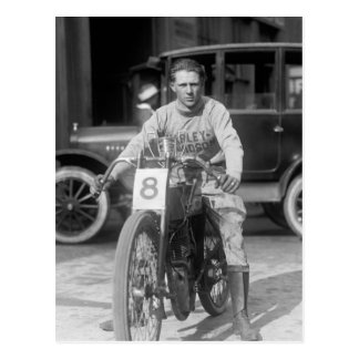 1920s Racing Motorcycle Postcard