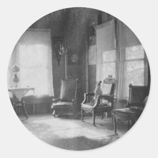 1920's Room Picture Round Sticker