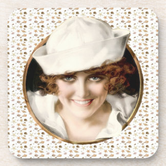 1920s Sailor Girl Drink Coasters
