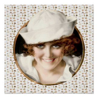 1920s Sailor Girl Print